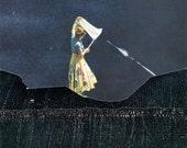 dream catcher 8X8 surreal collage art print