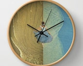 Wall clock - Collage art - she called it freedom - surreal home decor for the dancer, dreamer, risktaker