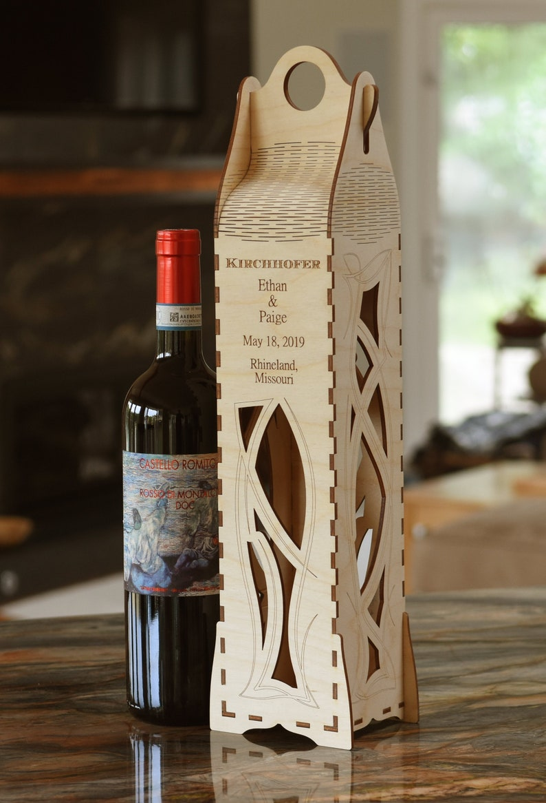 Personalized Wooden Wine Gift Box