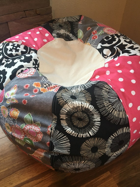 Tremendous Pink Black And Grey With Floral Prints And Zebra Grey Bean Bag Chair Unfilled With Cover And Liner Grey With Pink Polka Dots Pdpeps Interior Chair Design Pdpepsorg