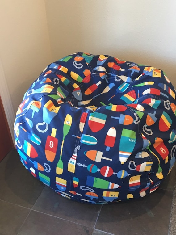 Enjoyable New Beach Bouys Nautical Bean Bag Chair Blue Indoor Outdoor Fabric Cover And Liner Without Fill Alphanode Cool Chair Designs And Ideas Alphanodeonline