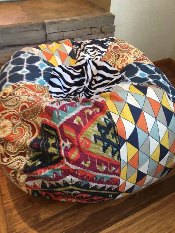 Enjoyable New Fun And Funky Multi Prints Bean Bag Chair Cover And Liner Unfilled You Fill Southwest And Zebra Pdpeps Interior Chair Design Pdpepsorg