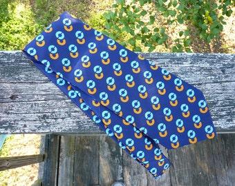 Navy Blue Vintage Necktie