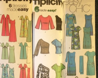 3 Easy Ladies Clothing Patterns by Simplicity- sizes 14-20