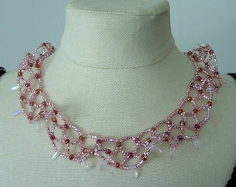 Sparkling Pink Champagne Necklace