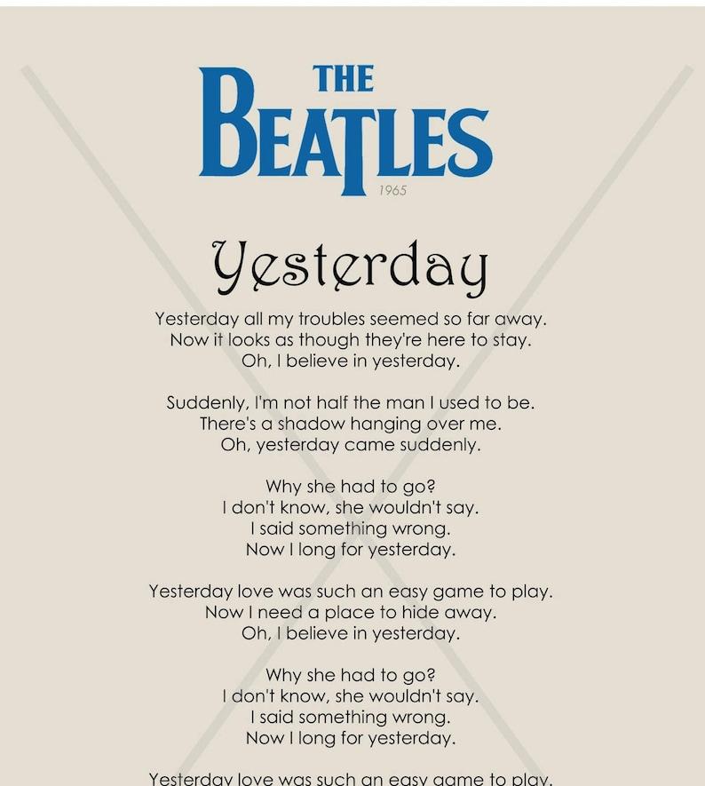 beatles lyrics yesterday - 570×636