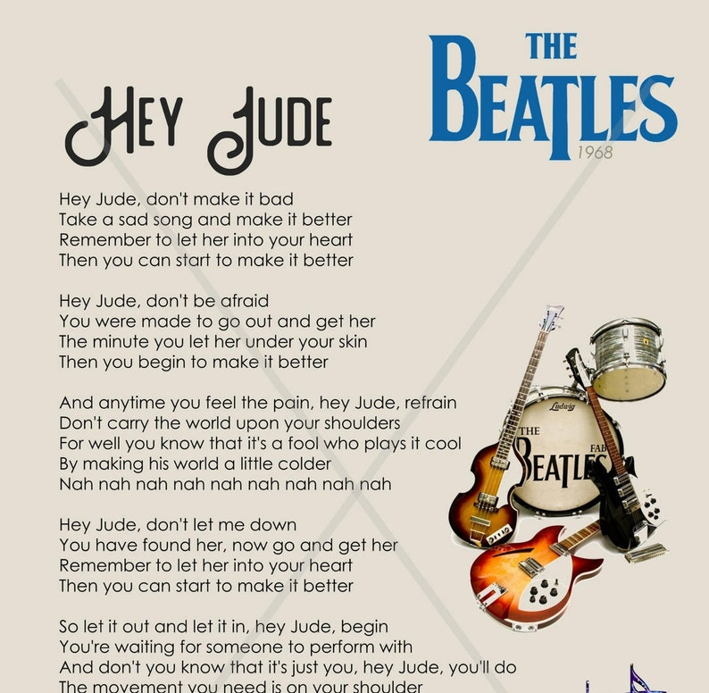 beatles lyrics hey jude - 794×776