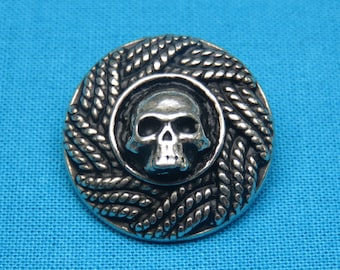 STEAMPUNK-LARP-Pirates-Sewing-Crafts-SILVER PEWTER CLOCK FACE SHANK BUTTONS