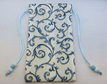 Fancy Scrolls Silk lined Tarot Pouch
