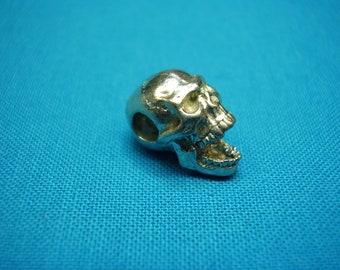 Screaming Skull Bead, 15mm, horizontal hole, unfinished