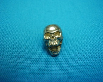 Screaming Skull Bead, 15mm, vertical top hole, unfinished