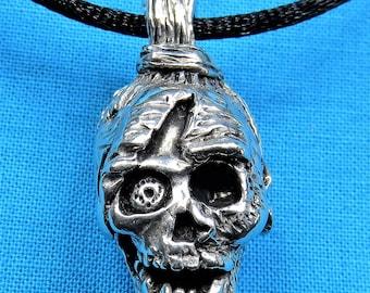 Zombie Head Necklace, Pendant