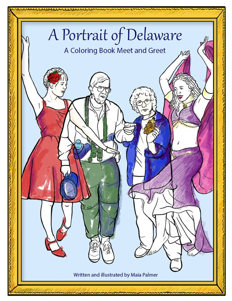 A Portrait of Delaware: A Coloring Book Meet and Greet image 0