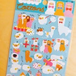 Kawaii animal Stickers, 40 pcs cute pink, brown and white Alpaca and Sheep - cute japan Schedule Stickers Scrapbooking birthday party tag