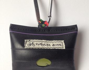 Bag Dispenser- Black with Floral