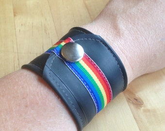 Upcycled Pride Cuff
