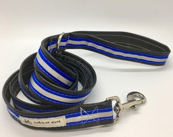 Royal blue reflective leash