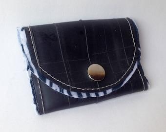 Zebra print upcycled wallet