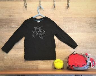 Black bike print shirt