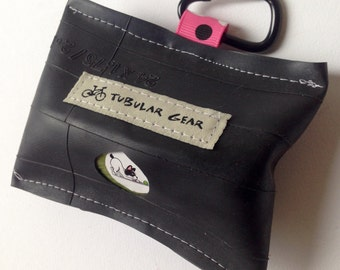 Pink with Black and White polka dots bag dispenser