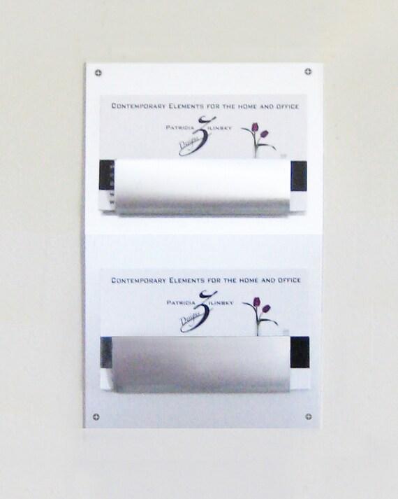 Mauer Zwei Pocket Visitenkartenhalter