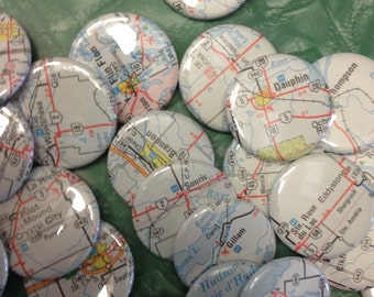 Custom Pinback Buttons - Canadian Town - Pick Your Small Towns