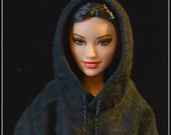 Barbie Hoodie Black Made to Order Fashionista Tall Curvy Petite