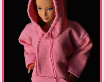 Barbie Hoodie Pink Made to Order Fashionista Original and Curvy