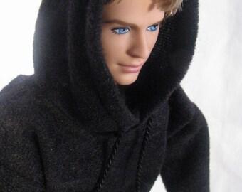 Ken Hoodie Black Fashionista Tall Barbie Made to Order