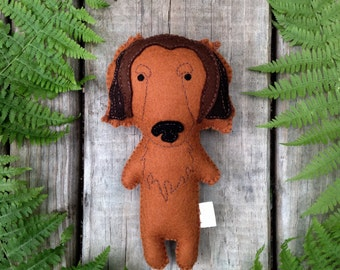 Felt Stuffed Dachshund, Dachshund toy, Stuffed Dog, Felt Dog, Stuffed Dog
