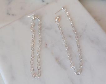 Everyday Chain Loop Earrings