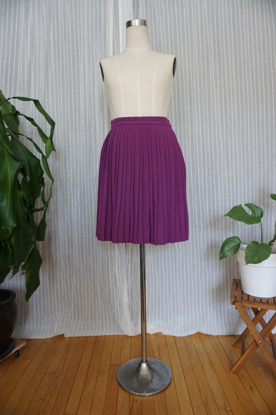 vintage skirt Bill Gibb mod mini skirt wool pleate