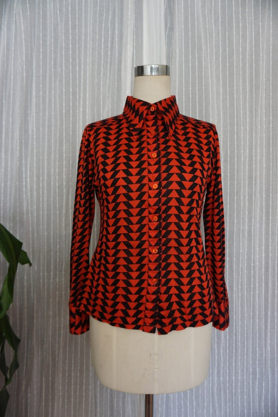 vintage 70s shirt 70s clothing vintage womens 1970