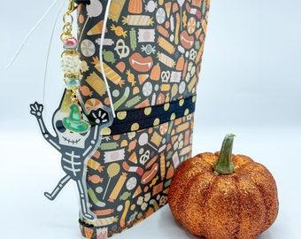 Mister Bones- Halloween Junk Journal, Smash Book Album, Travelers Notebook, Halloween Planner, Idea Book, Receipt Keeper, Scrapbook, Gift