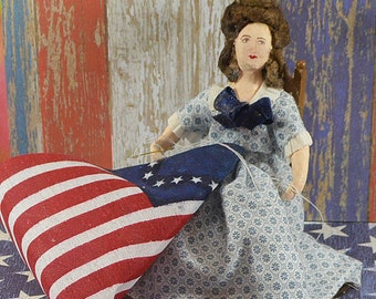 Betsy Ross Colonial History Diorama Historical Art Character Miniature Art