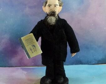 Charles Dickens Doll Author Figurine Mini Figure Literary Art