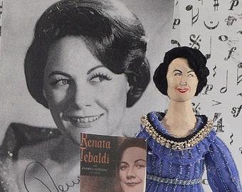 Opera Singer Renata Tebaldi Italian Musician Collectible Miniature Figurine