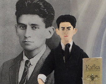 Franz Kafka, Author Doll, Miniature Sized , Art Collectible, Literary Figure, Holocaust History