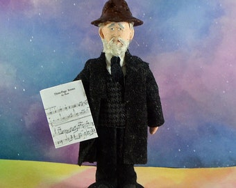Charles Ives Musician Doll Mini Figurine Music Composer Debbie Ritter