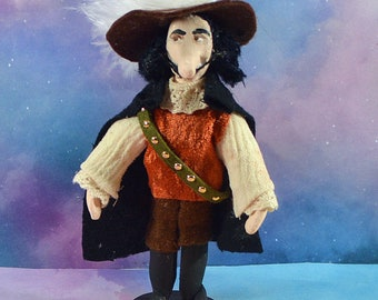 Cyrano de Bergerac Figurine French Novelist Miniature Art Doll