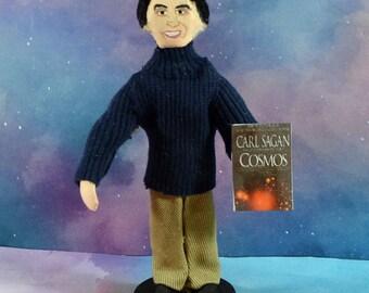 Carl Sagan Doll Astronomy Science Astrophysicist Author Writer Mini Figurine