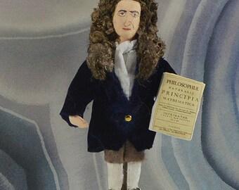Isaac Newton Doll Science Art Mathematician Historical Figure Miniature Sized