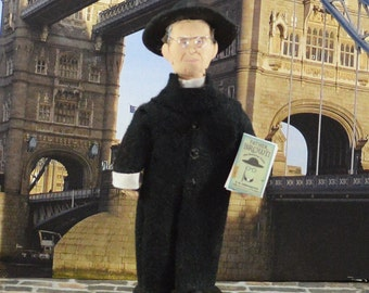 Father Brown- G.K. Chesterton- Fictional Character- Art Doll Miniature