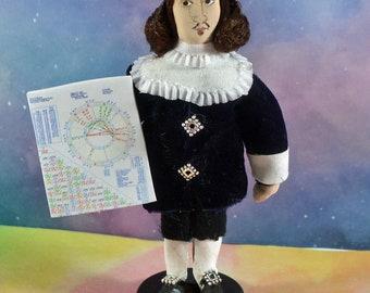 Calculus Mathematician Pierre de Fermat Miniature Doll Math Art