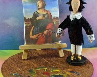 Rafael Artist Diorama Italian Renaissance Painter Miniature Art Doll Mini Figurine