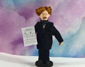 Ignacy Paderewski  Classical Composer Polish Pianist Miniature Doll