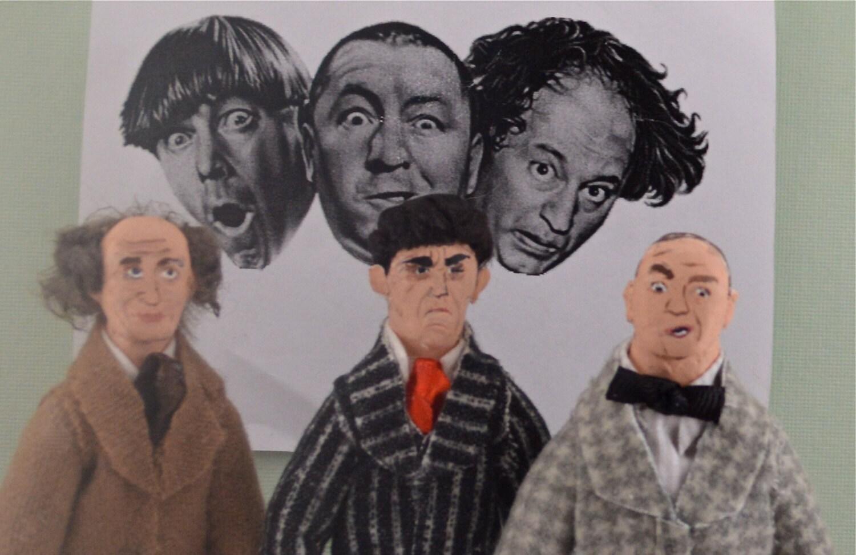 Moe Larry Curly Stooges Fan Art Historical Comedy Doll | Etsy
