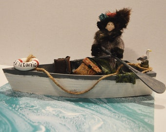 Titanic Unsinkable Molly Brown Diorama Miniature Historical Art Collectible