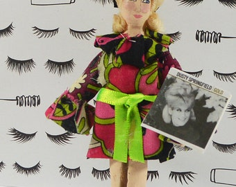 Dusty Springfield Doll 1960s Rock and Roll Singer Miniature Art English Pop