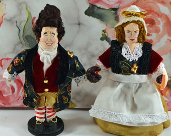 Mr. and Mrs. Fezziwig A Christmas Carol Miniatures Dickens Characters